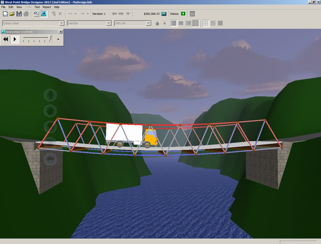 Lynn West Designs West Point Bridge Designer
